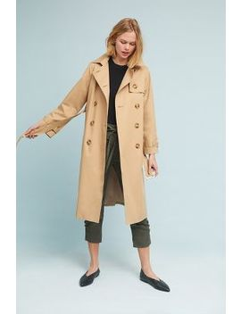 Pleated Trench Coat by Emin + Paul