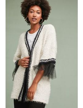 Tulle Trimmed Cardigan by Amadi