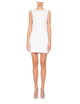Sleeveless Stretch Cady Sheath Mini Cocktail Dress W/ Embellishments by Givenchy