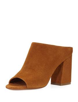 Paris Suede Mule Sandal, Hazelnut by Givenchy