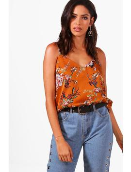 Summer Premium Floral Print Cami Top by Boohoo
