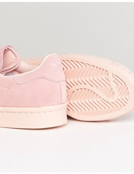 Adidas Originals Pink Superstar 80 S Sneakers With Metal Toe Cap by Adidas