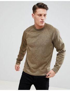 Abercrombie & Fitch Sports Fleece Crew Neck Sweatshirt In Light Khaki by Abercrombie & Fitch