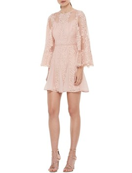 Lust Over Bell Sleeve Lace Dress by La Maison Talulah
