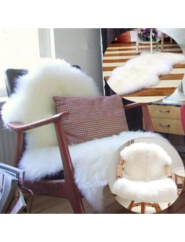 Soft Sheepskin Flokati Nursery Faux Fur Area Rug Baby Chair Cover Seat Pad(White) by Universal E Business Llc