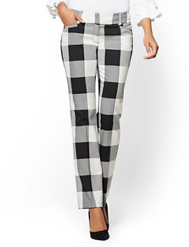 7th Avenue Pant   Straight Leg   Signature   Gingham by New York & Company
