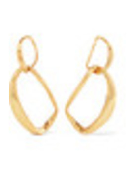 Louise Olsen Large Liquid Chain Gold Plated Earrings by Dinosaur Designs