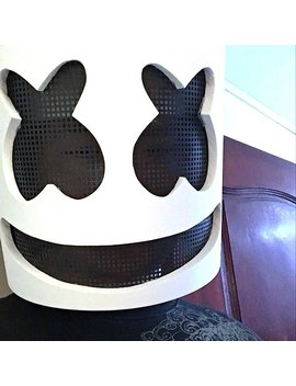 Dj Marshmello Mask Cosplay Costume Accessory Helmet For Halloween Party Props by Hardybackpage