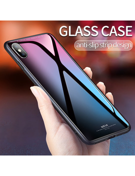 Msvii For I Phone X Glass Case For I Phone X Coque Silicone Shock Proof Luxury Slim Tempered Glass Cover For Iphonex Back by Msvii Official Store
