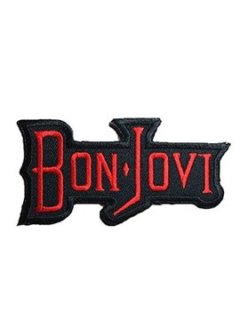 "3.5"" X 1.8"" Bon Jovi Embroidered Iron On Patch Metal Punk Hip Hop Band Logo For T Shirt Hat Jacket by Poly Music Patches"