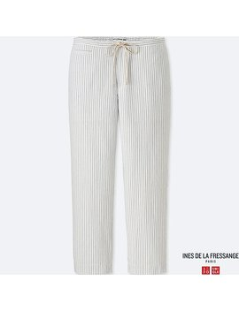 Women Idlf Cotton Linen Easy Pants by Uniqlo