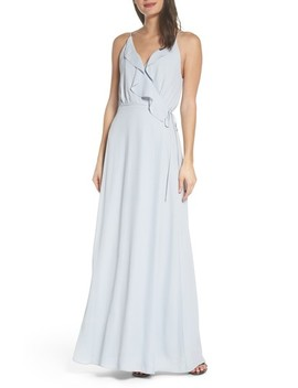 Jamie Ruffle Wrap Gown by Wayf
