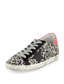 Superstar Metallic Leopard Low Top Sneaker by Golden Goose