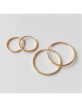 "3/4"" Small Gold Hoop Earrings, 14 K Gold Filled Hoop Earrings, Gold Hoops, Minimalist Style, Unisex Gold Hoop Earrings. by Etsy"
