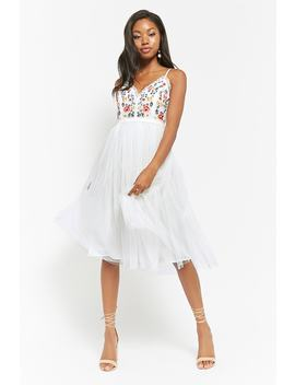 Embroidered Cami Tulle Dress by Forever 21