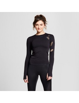 Women's Seamless Long Sleeve Top   Joy Lab™ Black by Joy Lab™