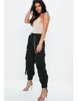 Fanny Lyckman X Missguided Black Combat Chain Pants by Missguided