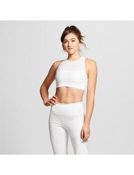 Women's Performance Mesh Layer Sports Bra   Joy Lab™ White by Joy Lab™