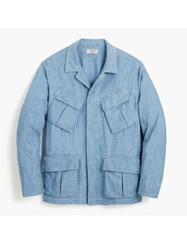 Wallace & Barnes Chore Jacket In Chambray by J.Crew