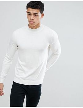 New Look Turtle Neck Jumper In White by New Look