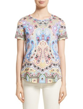 Paisley Print Cotton Tee by Etro