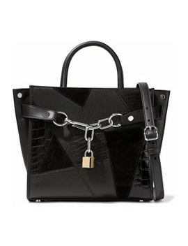 Chain Embellished Patchwork Leather And Suede Tote by Alexander Wang