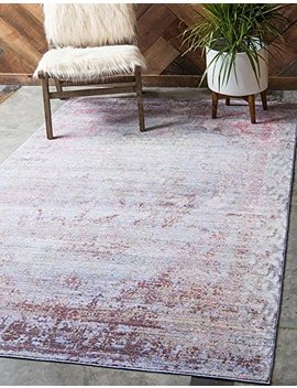 Unique Loom Aria Collection Violet 6 X 9 Area Rug (6' X 9') by Unique Loom