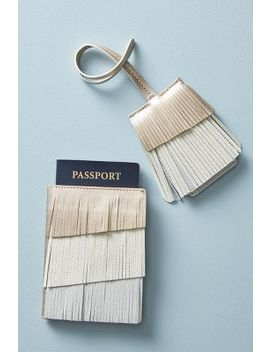 Fringed Luggage Tag by Anthropologie