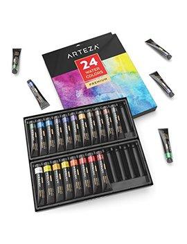 Arteza Watercolor Premium Artist Paints Set   24 Colors (24 X 12 Ml / 0.74 Us Fl Oz) by Arteza