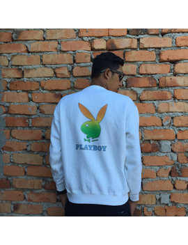 Vintage Playboy Rainbow Biglogo Sweatshirt by Etsy