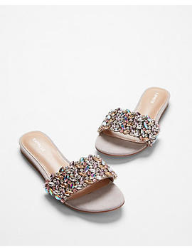 Jeweled Slide Sandals by Express