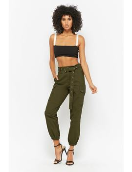 Belted Cargo Joggers by F21 Contemporary