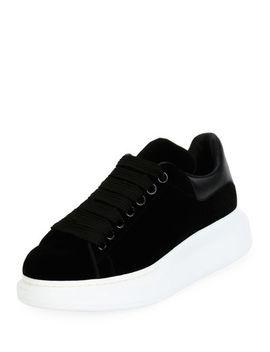 Velvet Low Top Wedge Sneaker by Alexander Mc Queen
