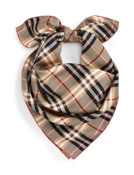 Castleford Check Silk Scarf by Burberry
