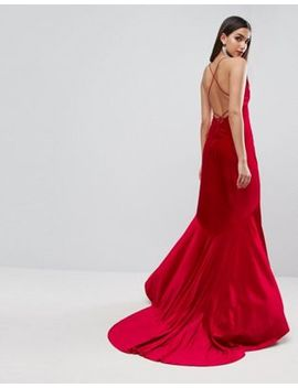 Asos Red Carpet Velvet Deep Plunge Strappy Maxi Dress by Asos Collection