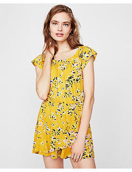 Floral Wrap Front Romper by Express