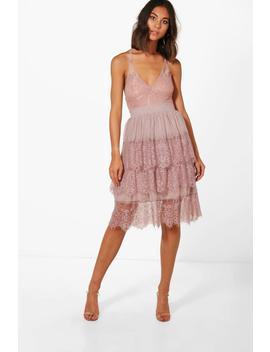Boutique Nova Eyelash Lace Layered Tulle Skirt by Boohoo