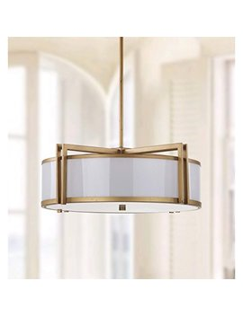 Safavieh Lighting Collection Orb Antique Gold 45.9 Inch Drum Pendant Light by Safavieh