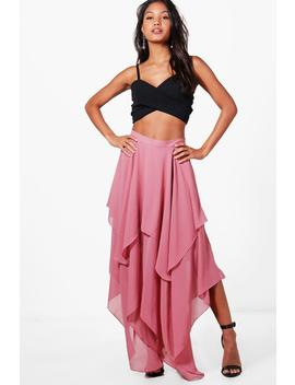 India High Low Hem Maxi Skirt by Boohoo