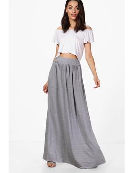Aurora Monochrome Floor Sweeping Maxi Skirt by Boohoo