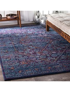 Nu Loom Persian Mamluk Diamond Purple Rug (9' X 12') by Nuloom
