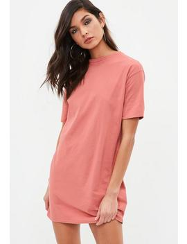 Pink Crew Neck T Shirt Dress by Missguided