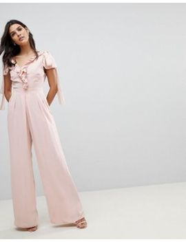 Asos Jumpsuit With Soft Ruffle Detail by Asos Collection