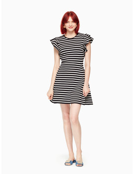 Stripe Flutter Sleeve Dress by Kate Spade