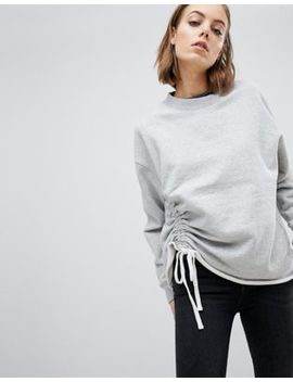All Saints Sweat Top With Ruched Tie by All Saints
