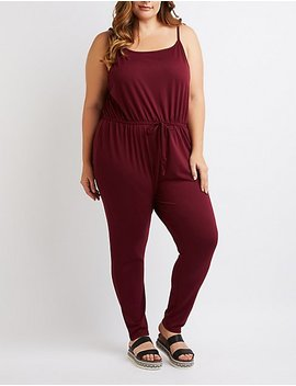 Plus Size Sleeveless Tie Waist Jumpsuit by Charlotte Russe