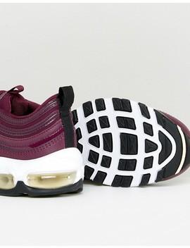 Бордовые кроссовки Nike Air Max 97 Premium by Asos