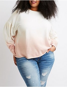Plus Size Ombre Pullover Sweater by Charlotte Russe