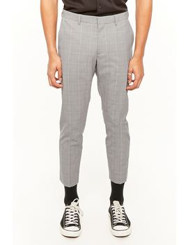 Slim Fit Glen Plaid Pants by Forever 21