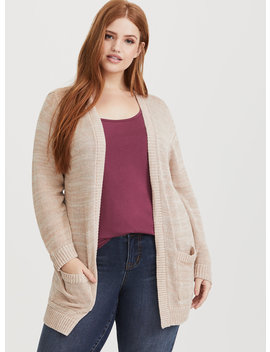 Blush Open Front Knit Cardigan by Torrid